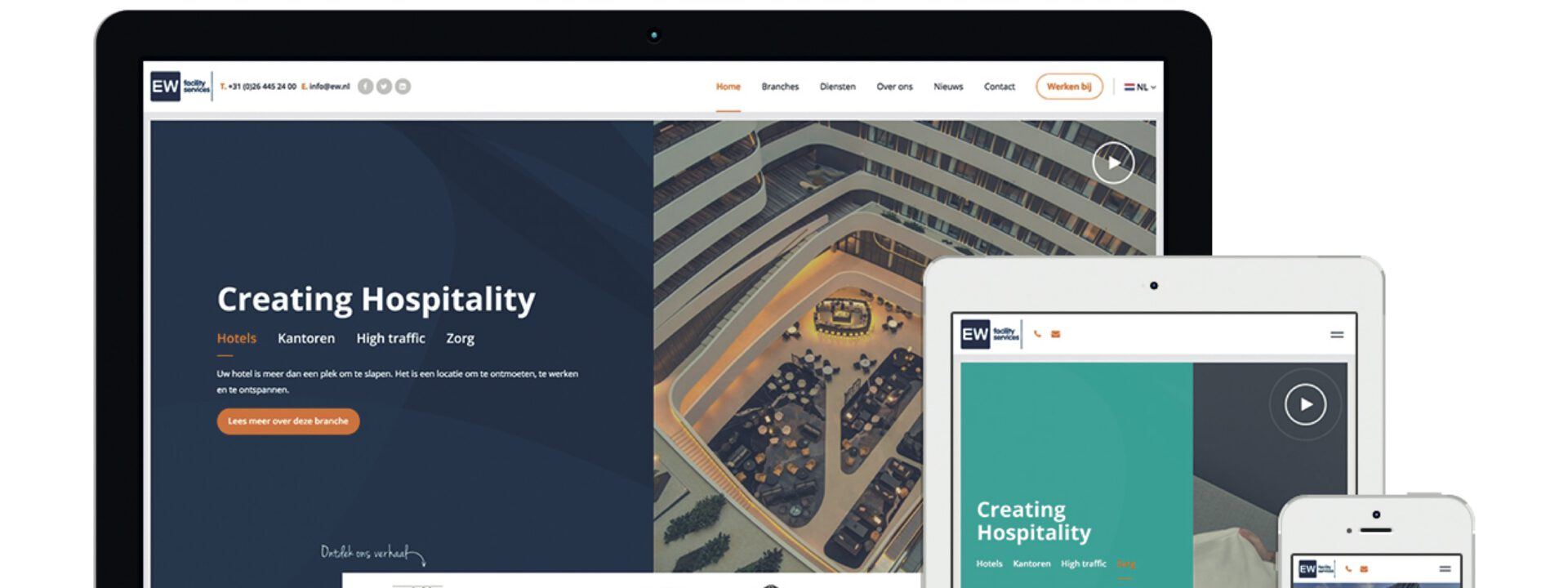 EW Facility Services lanceert nieuwe corporate website