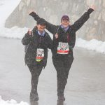 Seda en Ida bereiken de finish van Stelvio for Life