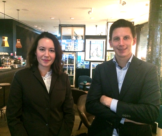 Hotel Manager Marina Repeanu Motel One en Salesmanager Rutger Verstegen EW Facility Services