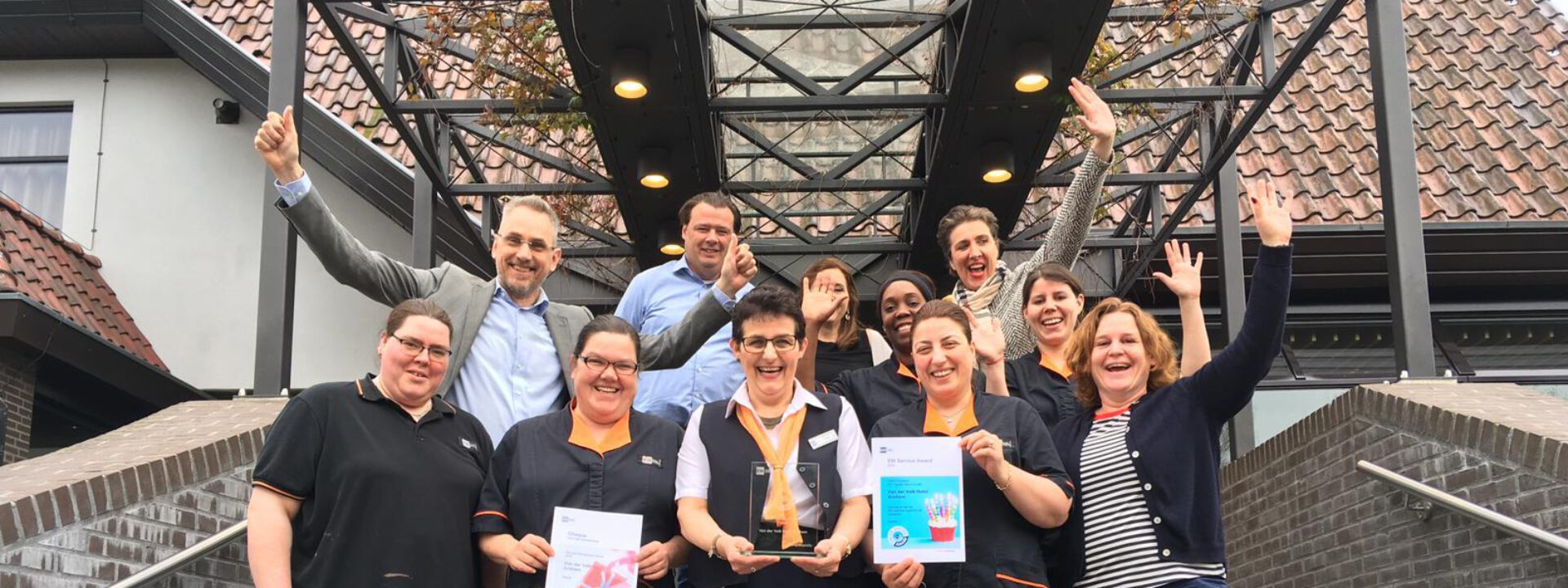 Team Van der Valk Arnhem wint de EW Service Award